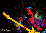 Jimi Hendrix - Paint Poster