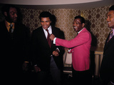 Muhammad Ali Jokes with Famous Athletes, January of 1971 Photographic Print by Leroy Patton