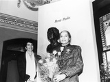 Rosa Parks, Sculpture at its Unveiling, Smithsonian Institute's National Portrait Gallery, 1991 Photographic Print by Maurice Sorrell
