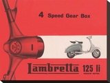 Lambretta 4 Speed Gear Box Stretched Canvas Print