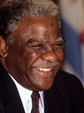 Harold Washington, 1987 Photographic Print by James Mitchell