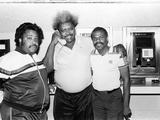 Activist Al Sharpton, Boxing Promoter Don King, and Singer Billy Preston, 1988 Photographic Print by Isaac Sutton