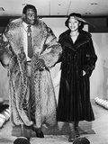 Walter and Connie Payton Model Furs in a Fashion Show Benefiting Better Boys Foundations,  1979 Photographic Print by Vandell Cobb