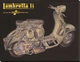 Lambretta Li Cutaway Stretched Canvas Print