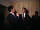 Muhammad Ali with Football Star O.J. Simpson, January 1971 Photographic Print by Leroy Patton