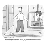 """You have to get closer to that banana peel for me to believe you're serio - New Yorker Cartoon Premium Giclee Print by Peter C. Vey"