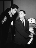 Legendary Blues Vocalist Billie Holiday, Bobby Troup, 1956 Photographic Print by Howard Morehead