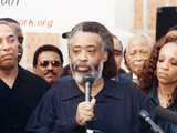 Rev. Al Sharpton Release from the Metropolitan Detention Center in Brooklyn, Ny., 2001 Photographic Print by Tyrone Rasheed
