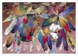 Boucliers à plumes pour les rituels Poster par David Manje