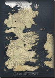 Game of Thrones Map Reproduction transférée sur toile