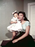 Coretta Scott King, Baby Daughter Yolanda King, 1958 Photographic Print by Moneta Sleet