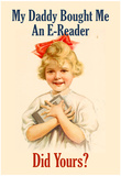 E-Reader Retro Advertising retro art spoof meme picture