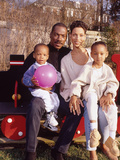 Eddie Murphy and Family,  April 1994, New Jersey Home Photographic Print by Moneta Sleet