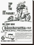 Lambretta Top of the IT Parade Stretched Canvas Print