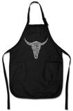 Cowskull - Country Song Titles Apron Tablier
