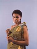 Miriam Makeba Displays Beautiful Garb Photographic Print by Moneta Sleet