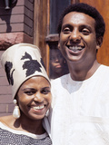 Famed South African Singer Miriam Makeba, with New Husband Stokely Carmichael, May 1968 Photographic Print by G. Marshall Wilson