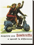Lambretta Differenza Stretched Canvas Print