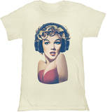 Juniors: Marilyn Monroe - Headphones T-Shirt