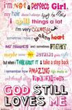 I'm Not a Perfect Girl - God Still Loves Me Plakat