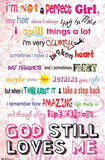 I'm Not a Perfect Girl - God Still Loves Me Poster