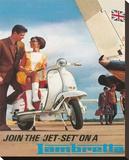 Lambretta Jet Set Reproduction sur toile tendue