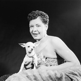 Famed Jazz Singer Billie Holiday with Her Pet Chihuahua,1957 Photographic Print by Isaac Sutton
