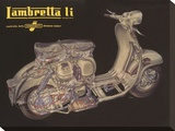 Lambretta Li Cutaway Stretched Canvas Print