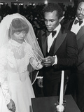 Sugar Ray Leonard and Longtime Sweetheart Juanita Wilkinson Wedding Ceremony, January 19, 1980 Photographic Print by Maurice Sorrell