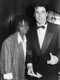 Whoopi Goldberg and Fellow Actor John Travolta, 1986 Photographic Print by Isaac Sutton