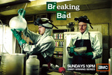 Breaking bad, affiche de la s&#233;rie&#160;t&#233;l&#233; cr&#233;&#233;e par Vince Gilligan Affiche