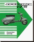 Lambretta TV 175 Stretched Canvas Print
