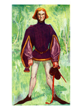 Man&#39;s Costume in Reign of Edward IV (1461- 1483) Giclee Print by Dion Clayton Calthrop