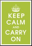Keep Calm (kiwi) Umocowany wydruk