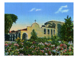 California: Mission San Juan Capistrano and Garden Giclee Print