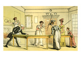 The Billiard Table Giclee Print by Thomas Rowlandson