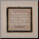 Go Confidently Aufgezogener Druck von Karen Tribett