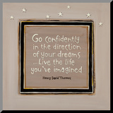 Go Confidently Mounted Print by Karen Tribett