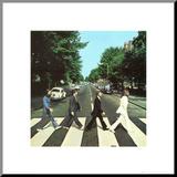 Abbey Road Druck aufgezogen auf Holzplatte