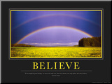 Believe Mounted Print