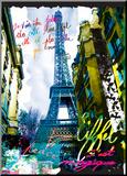 Magique Eiffel Kunstdruk geperst op hout van  Kaly