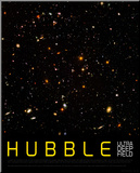 Hubble Ultra Deep Field Kunstdruk geperst op hout