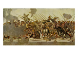 Mosaic from Pompeii. the Slaughter at Issos - Giclee Baskı