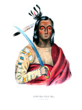 Moukaushka ('the Trembling Earth'), a Yankton Sioux Chief Giclee Print by George Cooke