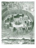 American Aboriginal Indian Village in Virginia Giclee Print