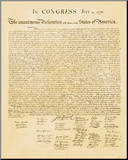 Declaration of Independence Mounted Print