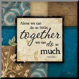 Together Kunstdruk geperst op hout van Jennifer Pugh