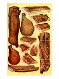 Mrs Beeton's Cookery Book - Bacon and Ham Giclee Print