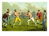 Bare-Knuckle Boxing Giclee Print by Henry Thomas Alken
