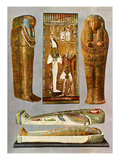 Egyptian Fresco and Sarcophaguses Giclee Print